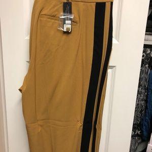 Lane Bryant Trouser. Camel with Black Tuck Stripe